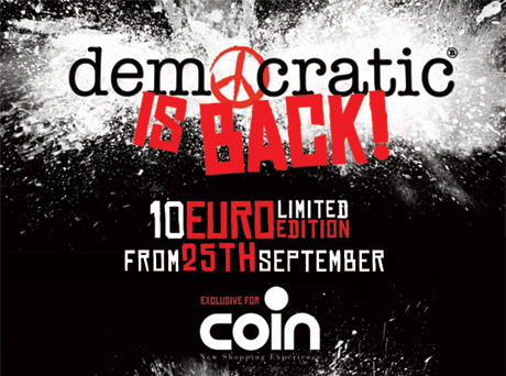 Il 25 Settembre torna il Democratic Wear di Coin