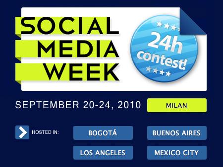 Social Media Week: una 24 ore di contest da Zooppa.it