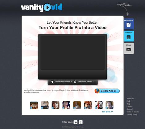 VanityVid: un video come immagine del profilo su Facebook