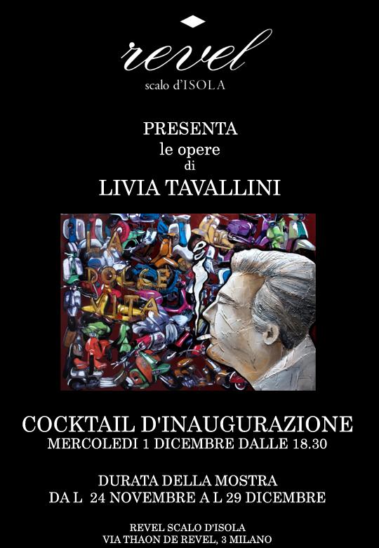 Livia Tavallini in mostra allo Spazio Revel Scalo d'Isola, Milano