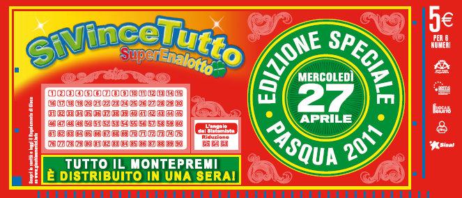 """Dal 27 Aprile """"SiVinceTutto"""" al SuperEnalotto."""