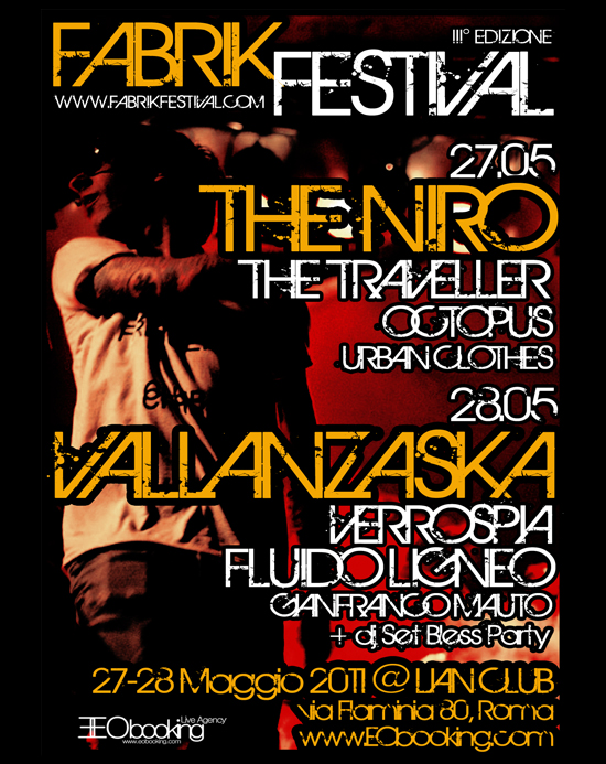 "Il ""Fabrik Festival"" a Roma con EOBooking Live Agency"