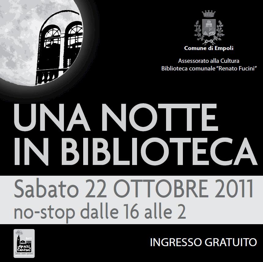 """MariaGiovanna Luini a Empoli per """"Una notte in biblioteca"""""""