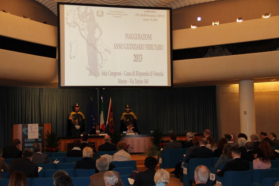 Inaugurazione dell'Anno Giudiziario Tributario 2013