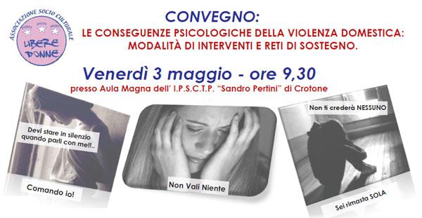 Le conseguenze psicologiche della violenza domestica: modalità di interventi e reti di sostegno