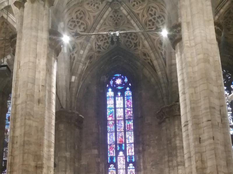 Duomo particolare di una vetrata. ©Talarico Annamaria Urban Walking
